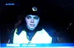 Инспектор ДПС Амелин из сюжета _Вестей_, кадр телеканала _Россия_