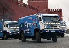 Старт _КамАЗов_ на гонку _Дакар-2007_