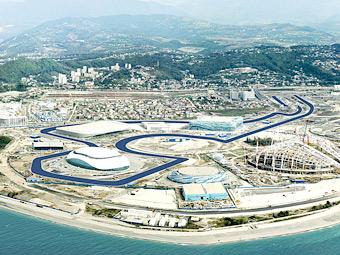 Trassa Formuly 1 v Sochi