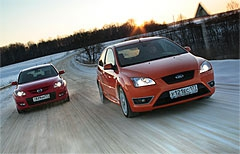 Mazda3 MPS vs. Ford Focus ST