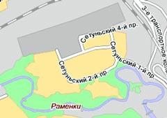 Карта заблокированного района