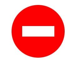 Знак 3.1 _Въезд запрещен_