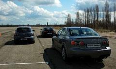 Автомобили Mazda на полигоне