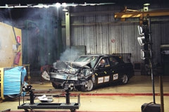 Краш-тест Lada Priora - съемки скоростной фотокамерой