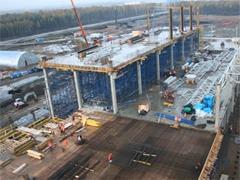 Строящийся завод GM в Шушарах