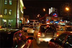 Пробки на улицах Москвы - фотогалерея