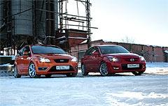 Mazda3 MPS vs. Ford Focus ST