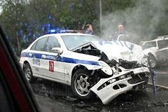 Авария на Калужском шоссе. Фото очевидца аварии с сайта gazeta.ru
